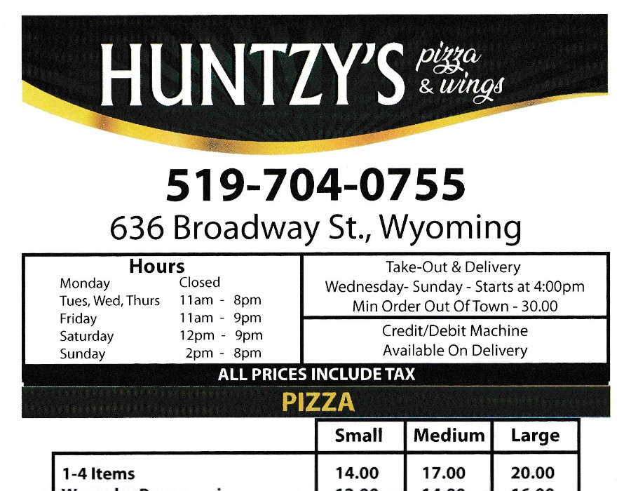 Huntzy;s Pizza and Wings